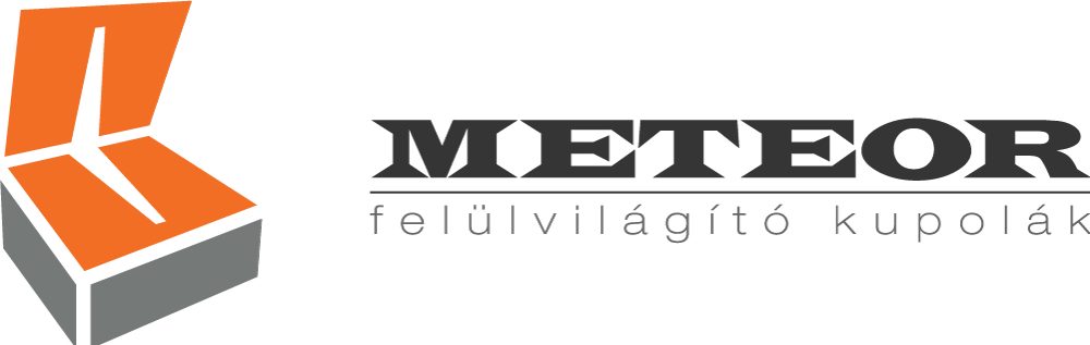 Meteor felülvilágító kupolák logó